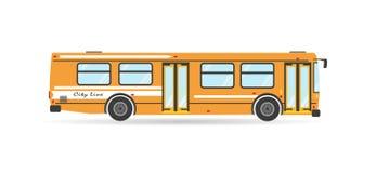 Het vectorvoertuig van de de doorgangsbus van de vervoers vlakke stad royalty-vrije stock foto