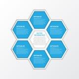 Het vectorwerk, Abstracte Infographic voor Ontwerp en Creatieve Propos Stock Fotografie