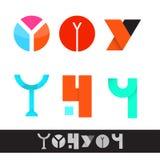 Het vectory-pak van het brievenembleem royalty-vrije illustratie