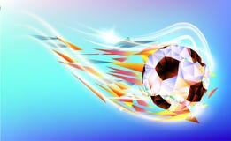 Het veelhoekige kleurrijke cijfer van van de het achtergrond kampioenschapskop van de Voetbal 2018 wereld voetbal stock illustratie