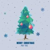 Het veelhoekige ontwerp van de kerstboombal Royalty-vrije Stock Foto