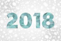 het veelhoekige vectorsymbool van 2018 De gelukkige illustratie van de Nieuwjaar abstracte driehoek Stock Afbeelding