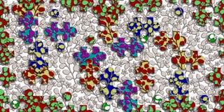 Het veelkleurige digitale de tegelsontwerp van het raadselpatroon voor decor binnenlands huis of ceramictiles ontwerpt, illustrat vector illustratie
