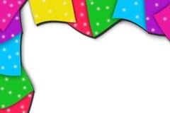het veelkleurige vierkante overlaping, abstracte achtergrond Stock Afbeeldingen