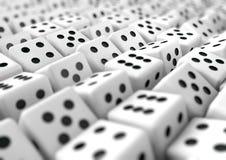 Het veelvoud dobbelt het gokken bedrijfsachtergrond voor presentatie Stock Afbeelding