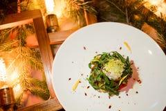 Het vegetarische feestelijke menu van het diner nieuwe jaar Royalty-vrije Stock Afbeelding
