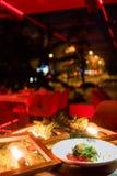 Het vegetarische feestelijke menu van het maaltijd nieuwe jaar Stock Fotografie
