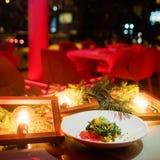 Het vegetarische feestelijke menu van het maaltijd nieuwe jaar Stock Foto's