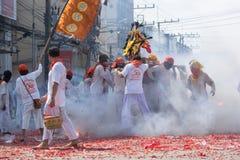 Het Vegetarische Festival van Surat Thani Stock Foto's