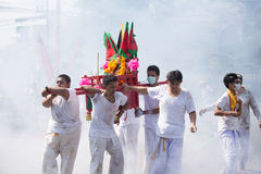 Het Vegetarische Festival van Surat Thani Stock Afbeeldingen