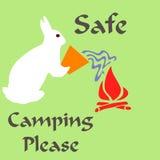 Het veilige kamperen Royalty-vrije Stock Foto's