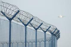 Het veiligheidssysteem van de luchthaven stock foto
