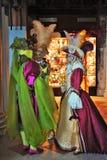 Het venetiaans-stijlmasker, Venetië Carnaval is één van beroemdst in de wereld die, is zijn kenmerk de maskers, aan reli worden g stock foto's