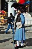 Het venetiaans-stijlmasker, Venetië Carnaval is één van beroemdst in de wereld die, is zijn kenmerk de maskers, aan reli worden g stock afbeelding