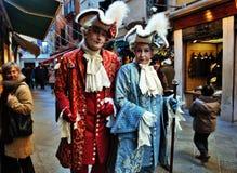 Het venetiaans-stijlmasker, Venetië Carnaval is één van beroemdst in de wereld die, is zijn kenmerk de maskers, aan reli worden g royalty-vrije stock afbeeldingen