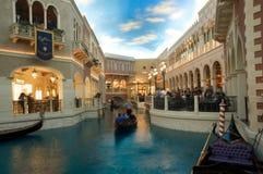 Het Venetiaanse Grote Kanaal van het Casino van het Hotel van de Toevlucht Stock Afbeeldingen
