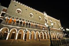 Het Venetiaanse Hotel en het casino van de Toevlucht van Macao Stock Foto's