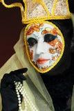 Het Venetiaanse masker maakt omhoog Stock Afbeeldingen