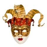 Het Venetiaanse masker van Carnaval met klokken Royalty-vrije Stock Fotografie