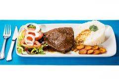 Het Venezolaanse typische voedsel van de Asadozwarte stock afbeelding