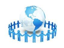 Het vennootschap van de wereld. 3d illustratie Royalty-vrije Stock Afbeeldingen