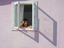 In het venster Royalty-vrije Stock Afbeeldingen