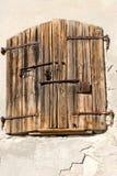 Het venster en de ijzerwaren van Woden Royalty-vrije Stock Afbeelding