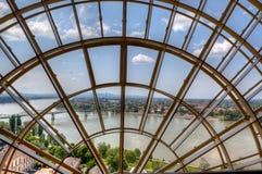 Het venster Hongarije van Donau Stock Foto's
