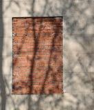 Het venster is omhoog bricked Stock Foto's