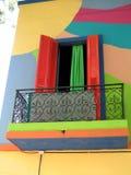 Het venster van Colourfull royalty-vrije stock fotografie