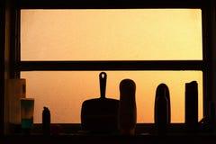Het venster van de badkamers Stock Afbeelding
