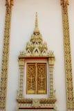 Het venster van de boeddhismetempel Stock Foto