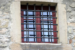 Het venster van de gevangenis Royalty-vrije Stock Foto's