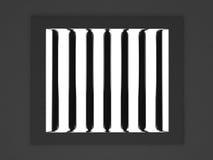 Het venster van de gevangenis vector illustratie