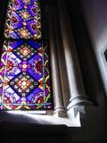 Het venster van de kerk stock foto's