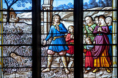 Het venster van de kerk Stock Foto