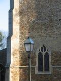 Het venster van de kerk, Cambridgeshire Stock Afbeelding