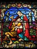 Het Venster van de Kerk van heilige Peter stock afbeelding