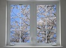 Het venster van de lente Stock Afbeeldingen