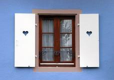 Het venster van de liefde Stock Afbeelding