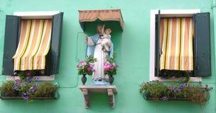 Het venster van de madonna Royalty-vrije Stock Foto