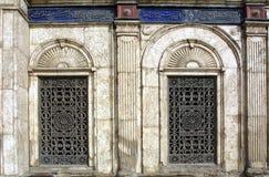Het Venster van de moskee stock fotografie