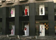 Het venster van de opslag Stock Afbeeldingen