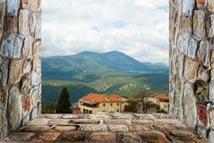 Het venster van de rots Stock Foto