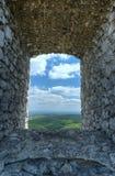 Het venster van de steen Stock Afbeeldingen