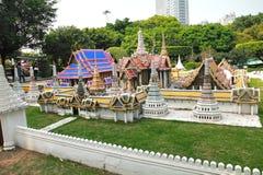 Het Venster van de Wereld is een miniatuurdiestad in Shenzhen, China wordt gevestigd royalty-vrije stock foto