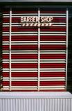 Het Venster van de Winkel van de kapper Royalty-vrije Stock Afbeelding