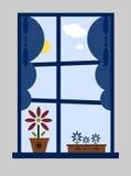 Het venster van de zomer Stock Foto