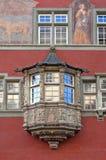 Het Venster van erker in de stijl van Rococo's Stock Foto