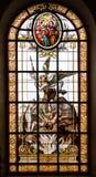 Het venster van het gebrandschilderd glas van kerk Royalty-vrije Stock Foto's